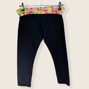 Ivivva cropped leggings with floral waistband 12